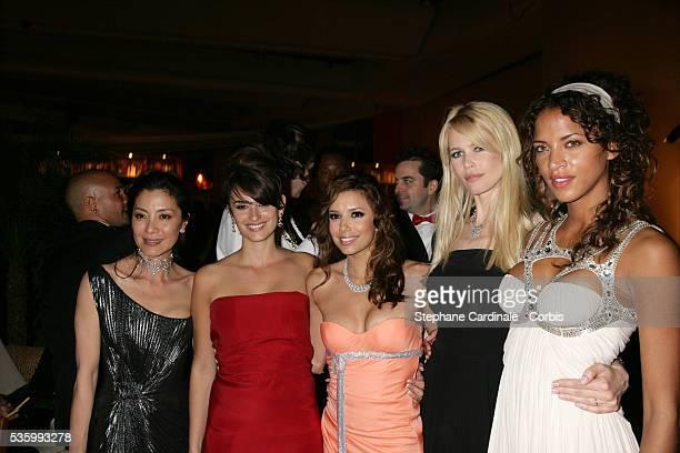 Michele Yeoh Penelope Cruz Eva Longoria Noemie Lenoir and Claudia Schiffer at the closing ceremony dinner of the 59th Cannes Film Festival