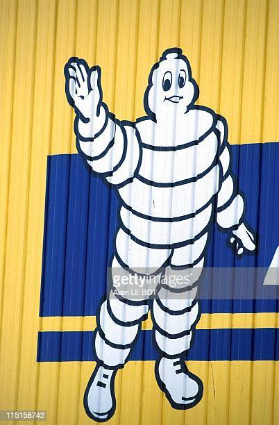 Michelin Billboard in La Roche Sur Yon France on September 10 1999