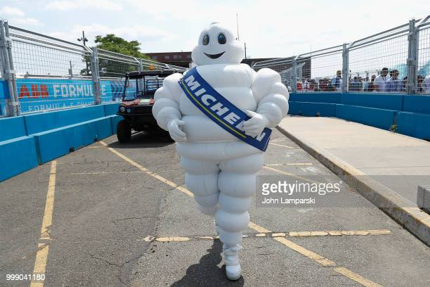 Michelin Man is seen during the Formula E New York City Race on July 14 2018 in New York City