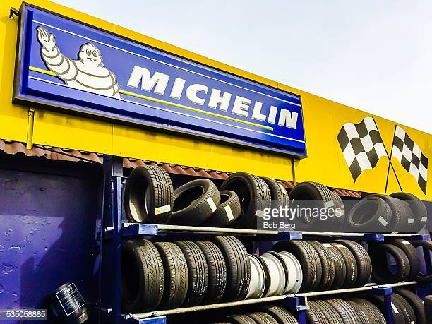 Santa Monica Ca January 28 2015 A Michelin retail sign and company logo at a tire store
