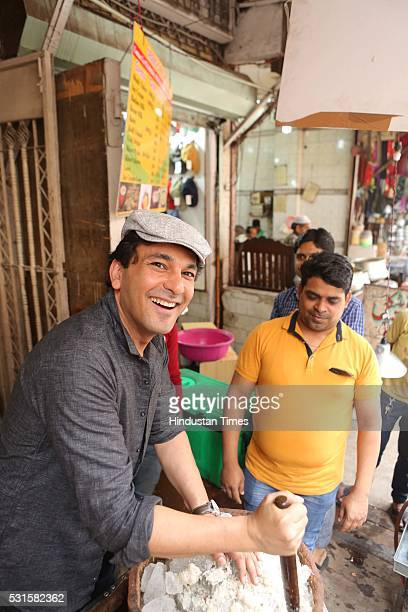 Michelin starred Indian chef restaurateur and cookbook writer Vikas Khanna during an exclusive interview with HT CityHindustan Times at Chandni Chowk...