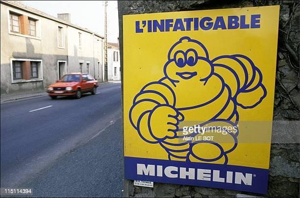 Michelin tyres advertising in Vendee France in April 1991