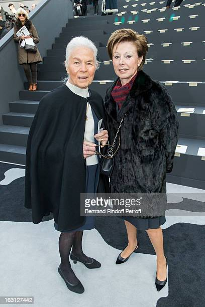 Micheline Chaban Delmas and MarieLouise de Clermont Tonnerre attend the Chanel Fall/Winter 2013 ReadytoWear show as part of Paris Fashion Week at...