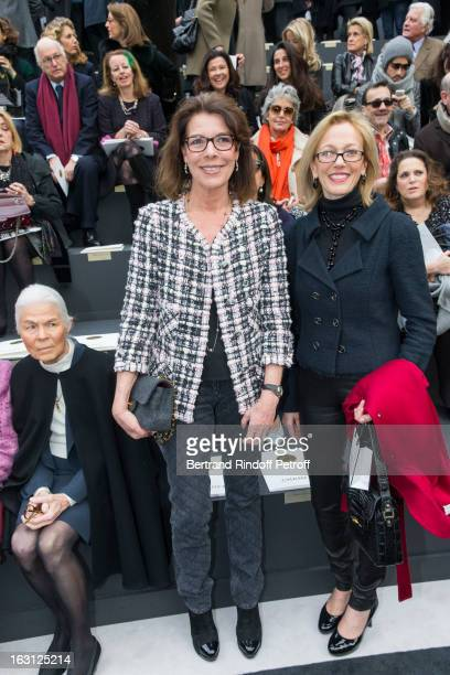 Micheline Chaban Delmas Princess Caroline of Hanover and Susan M Tolson attend the Chanel Fall/Winter 2013 ReadytoWear show as part of Paris Fashion...