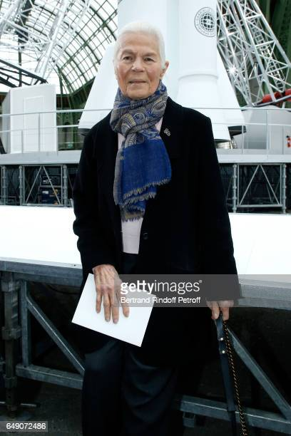 Micheline ChabanDelmas attends the Chanel show as part of the Paris Fashion Week Womenswear Fall/Winter 2017/2018 on March 7 2017 in Paris France
