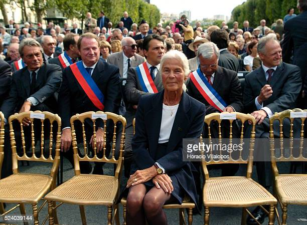 Micheline ChabanDelmas third wife of Jacques ChabanDelmas attends the homage to the French general and politician at the esplanade that has been...
