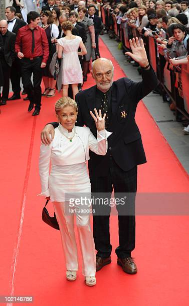 Micheline Connery and Sir Sean Connery attends the opening film of The Edinburgh Film Festival The Illusionist on June 16 2010 in Edinburgh Scotland
