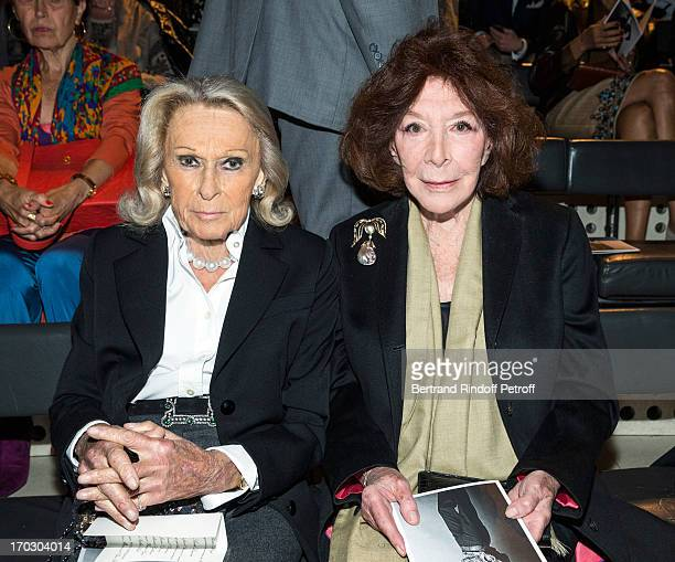 Micheline Maus and Charlotte Aillaud attend a tribute to late fashion designer Yves Saint Laurent at Opera Bastille on June 10 2013 in Paris France