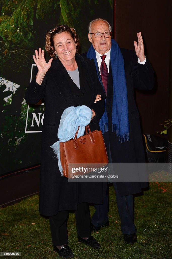 Micheline Pelletier and Alain Decaux attend the 'Il etait une foret' Paris Premiere at Cinema Gaumont Marignan, in Paris.