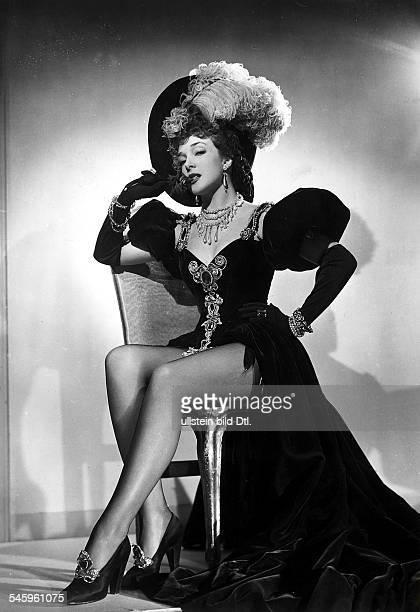 """Micheline Presle *-Schauspielerin, Frankreich- in Rolle im Film """"Venus im Auto""""Regie: Jean BoyerF 1948"""