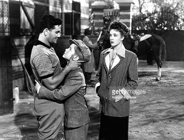 Micheline Presle And Director George Marshall During The Set Of The Movie Dark Purpose In Rome In 1950