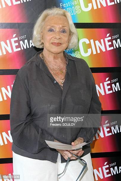 Micheline Presle at Paris Cinema Film Festival in Paris France in July13 2007