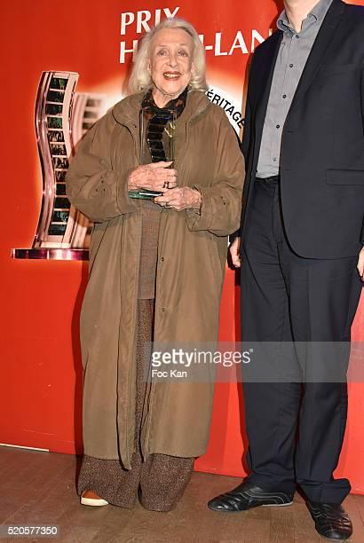 Micheline Presle attends Henri Langlois : 11th Award Ceremony At Maison de La Radio on April 11, 2015 in Paris; France.