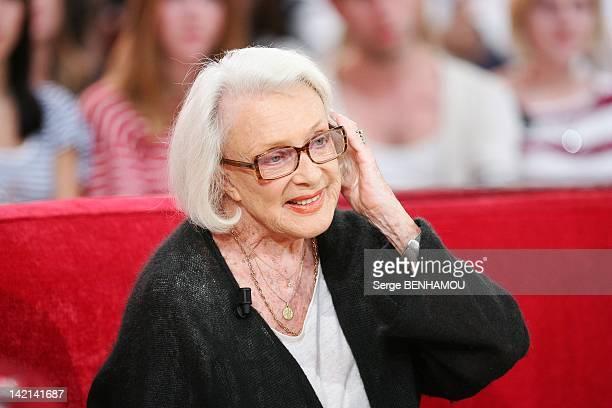 Micheline Presle attends Vivement Dimanche Tv show on September 21, 2011 in Paris, France.