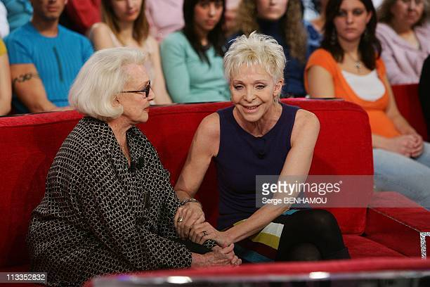 Micheline Presle On Vivement Dimanche Tv Show In Paris, France On January 24, 2007 - Micheline Presle and her daughter Tonie Marshall.