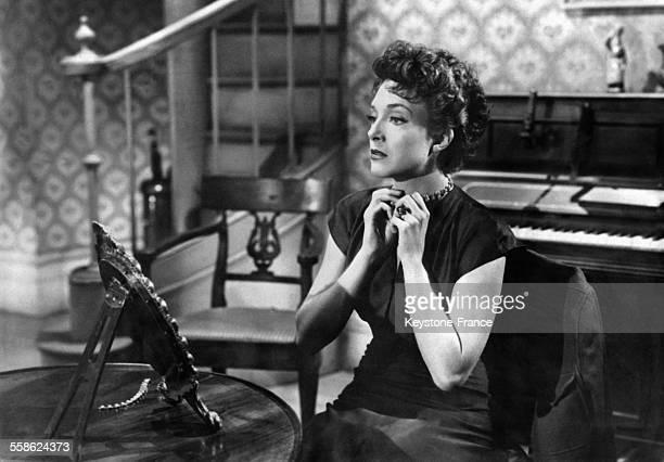 Micheline Presle sur le tournage de 'La belle de Paris' réalisé par Jean Negulesco aux Etats-Unis le 5 avril 1950.