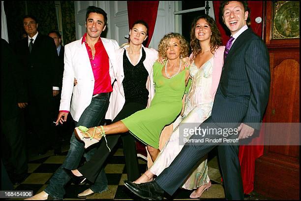 Micheline Roquebrune Stephanie and Eve Anna Renouvin Ariel Wizman and Stephane Bern at Sean Connery And Micheline Roquebrune 30 Year Anniversary...
