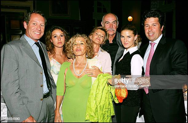 Micheline Roquebrune's family Stephanie and Eve Anna Renouvin and Stephane Connery at Sean Connery And Micheline Roquebrune 30 Year Anniversary Party...
