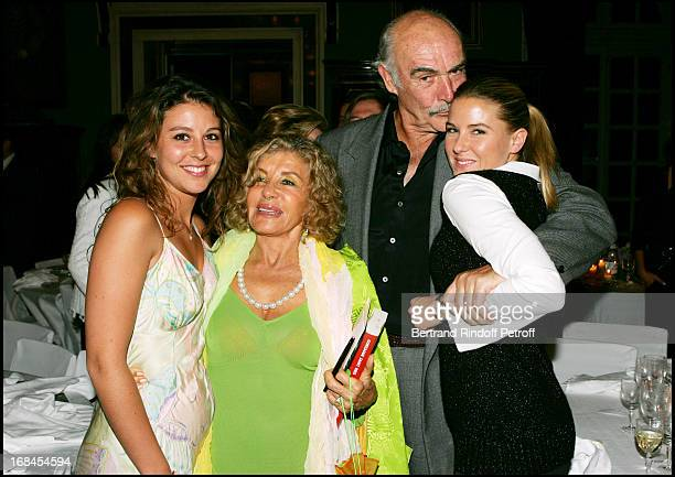 Micheline Roquebrune's family Stephanie and Eve Anna Renouvin at Sean Connery And Micheline Roquebrune 30 Year Anniversary Party At Chateau De...