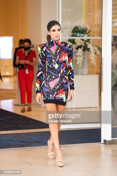 Michell Roxana is seen during the 74th annual Cannes Film Festival at on July 16, 2021 in Cannes, France.