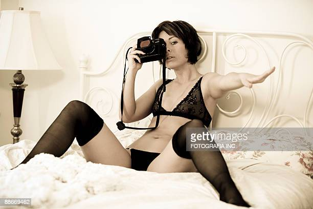 michelle 2 - see through knickers stock photos and pictures