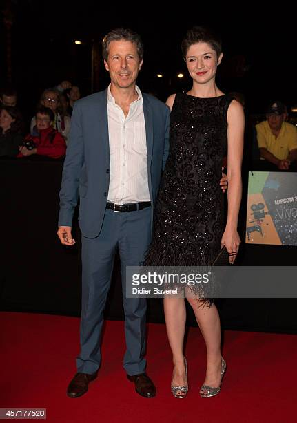 Michelle Alexander and Steve Hoban attend the opening red carpet party MIPCOM 2014 at Hotel Martinez on October 13, 2014 in Cannes, France.