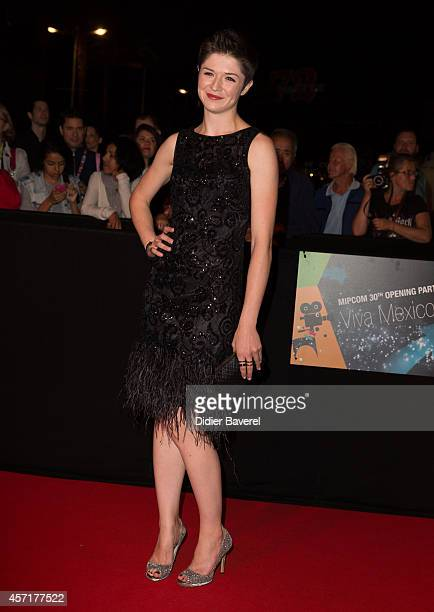Michelle Alexander attends the opening red carpet party MIPCOM 2014 at Hotel Martinez on October 13 2014 in Cannes France