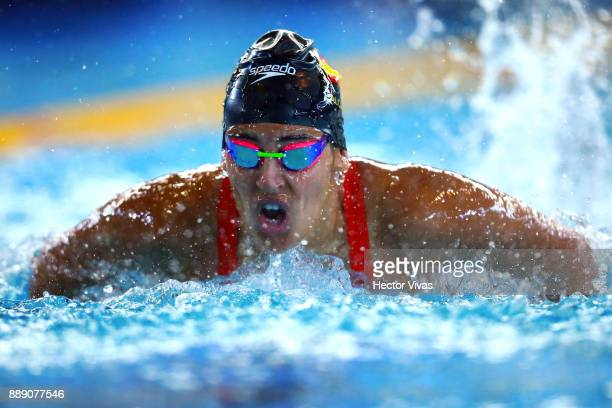 Michelle Alonso of Spain competes in Women's 100 m Butterfly S14 during day 6 of the Para Swimming World Championship Mexico City 2017 at Francisco...