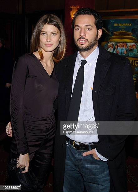 "Michelle Alves and Guy Oseary during ""The Life Aquatic with Steve Zissou"" New York Premiere - Inside Arrivals at Ziegfeld Theater in New York City,..."