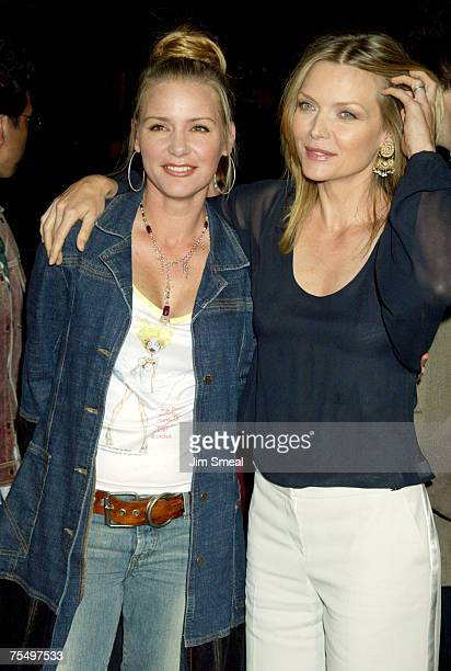 Michelle and daughter Dee Dee Pfeiffer at the Grauman's Chinese Theatre in Hollywood California