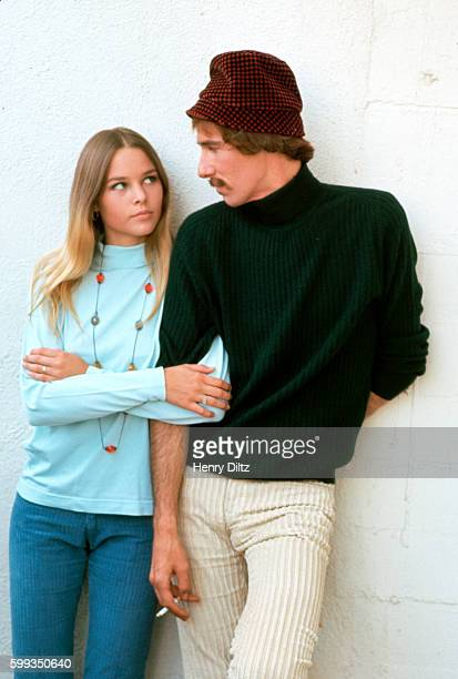 Michelle and John Phillips of the pop group the Mamas and the Papas