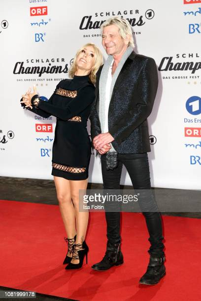 Michelle and Matthias Reim during the television show 'Schlagerchampions Das grosse Fest der Besten' at Velodrom on January 12 2019 in Berlin Germany