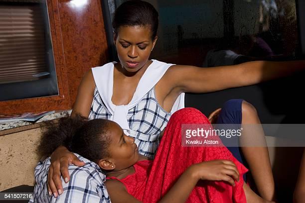 Michelle and Natasha Obama