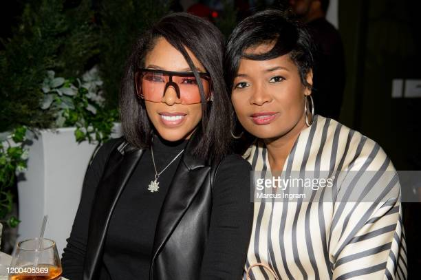 Michelle and Shema Fulton attend the Pearl Meets Puff & Petals Pop Up at Garden Parc on January 18, 2020 in Atlanta, Georgia.