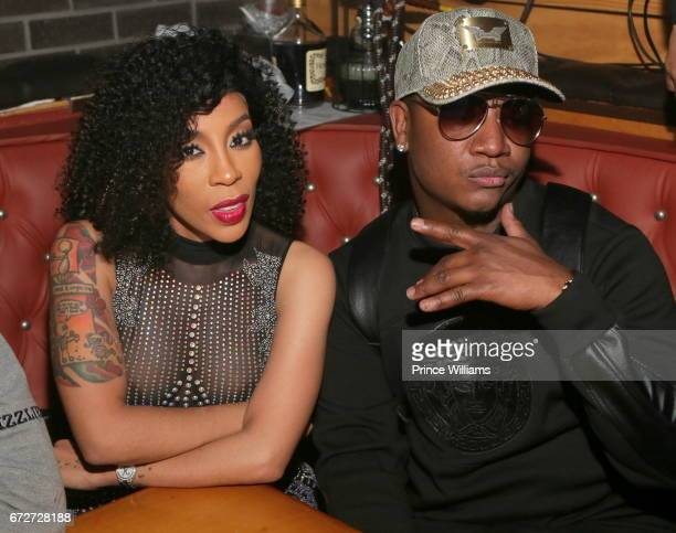 K Michelle and Yung Joc attend Allure Sunday's Hosted By K Michelle at Boogalou Lounge on April 23 2017 in Atlanta Georgia