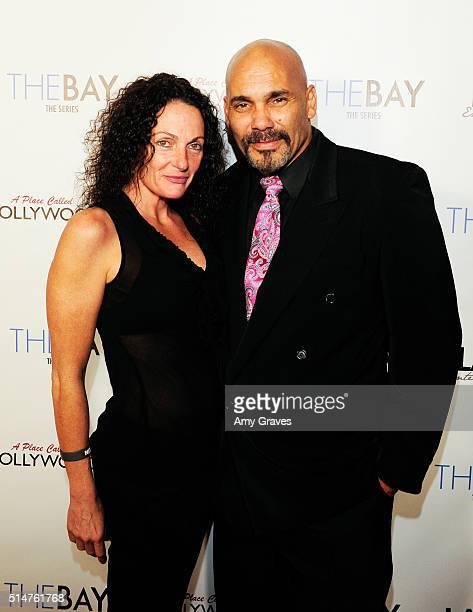 Michelle Andrews and Rael Andrews attend the 5th Annual LANY Entertainment Mixer at St Felix on March 10 2016 in Hollywood California