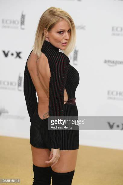 Michelle arrives for the Echo Award at Messe Berlin on April 12 2018 in Berlin Germany