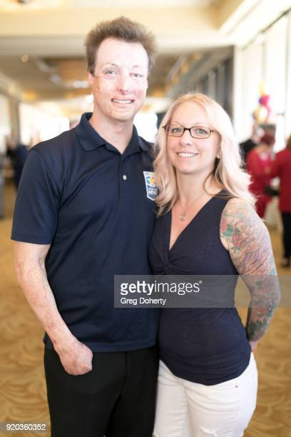 Michelle Asker and Joey Paul attend The Thalians Hollywood for Mental Health Presidents Club Party at Dorothy Chandler Pavilion on February 18 2018...