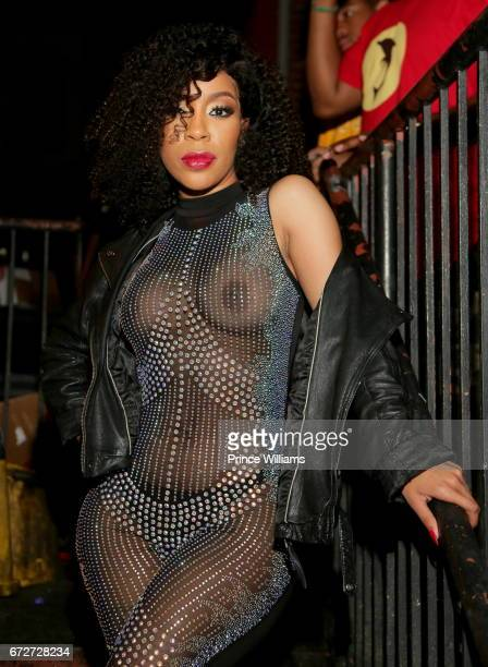 K Michelle attends Allure Sunday's Hosted By K Michelle at Boogalou Lounge on April 23 2017 in Atlanta Georgia