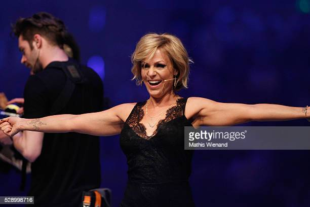 Michelle attends the finals of the television show 'Deutschland sucht den Superstar' on May 7 2016 in Duesseldorf Germany