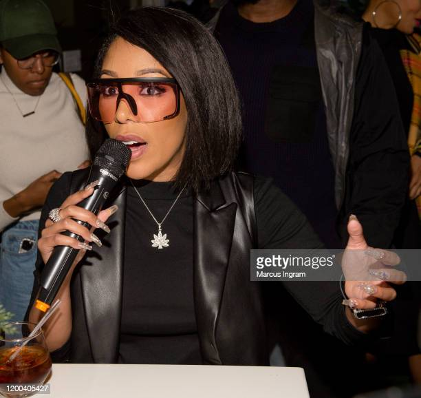 Michelle attends the Pearl Meets Puff & Petals Pop Up at Garden Parc on January 18, 2020 in Atlanta, Georgia.