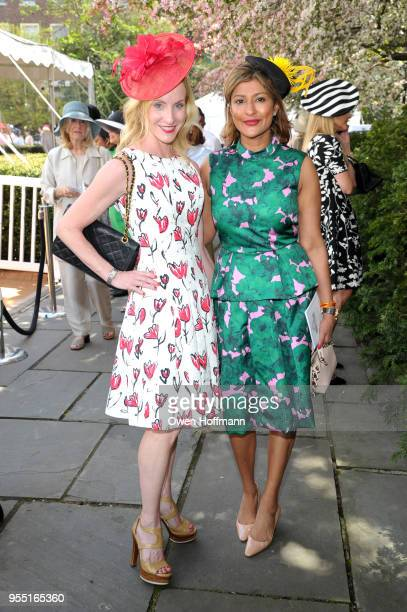 Michelle Auerbach and Nishita Federbush attend 36th Annual Frederick Law Olmsted Awards Luncheon Central Park Conservancy at The Conservatory Garden...