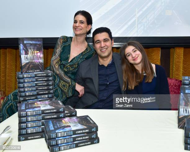 Michelle Babu Author Chris Babu and Lily Babu attend 'The Initiation' Book Launch at Bouley TK on March 15 2018 in New York City