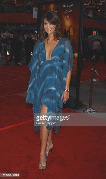 Michelle Baney arrives at the World Premiere of Universal Pictures The Scorpion King held at the Universal Amphitheatre
