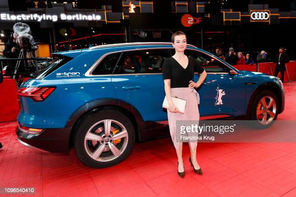 Michelle Barthel arrives in Audi etron car for the The Ground Beneath My Feet premiere during the 69th Berlinale International Film Festival at...