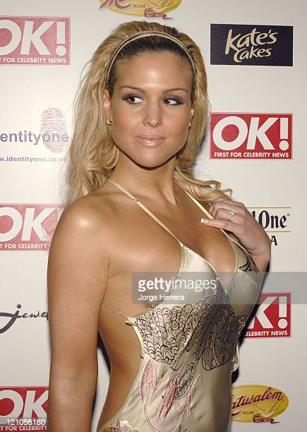 Michelle Bass during Ok Christmas Party Outside Arrivals in London Great Britain