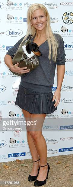 Michelle Bass during Pugs and Kisses Celebrity Dog Fashion Show at Parson's Green in London Great Britain