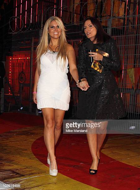 Michelle Bass gets evicted from Big Brother at Elstree Studios on September 8 2010 in Borehamwood England