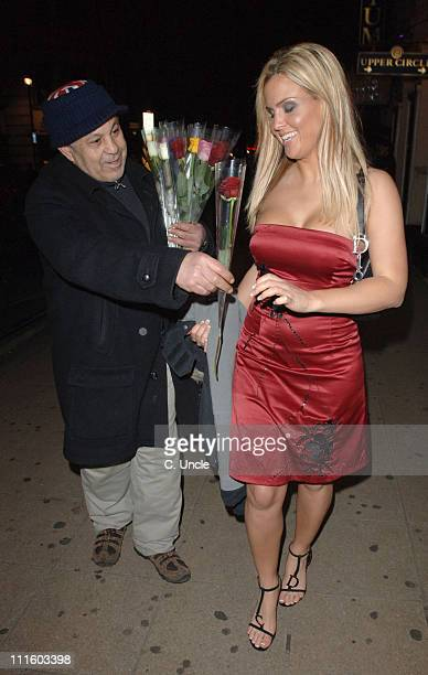 Michelle Bass receives a rose from a flower seller