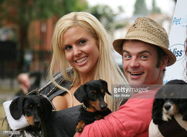 Michelle Bass with dog Valentina and Julien Bennett from Queer Eye